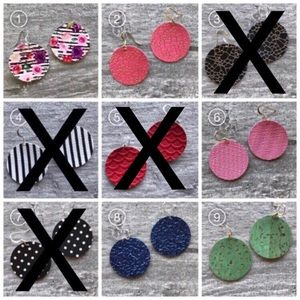 Jewelry - 🔵Circle Handmade Vegan Leather Earrings